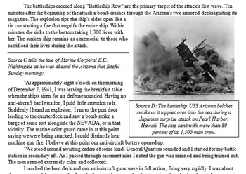 Pearl Harbor Primary & Secondary Source Assignment