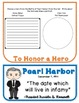 Pearl Harbor, Research Project, Flip Book, Writing Prompts, Vocabulary