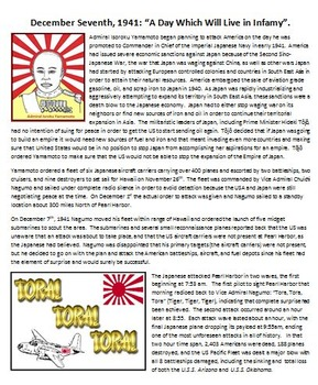 Pearl Harbor Summary and Propaganda Poster Project