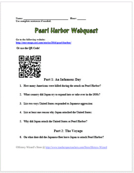 Pearl Harbor Webquest (Amazing Website!!!)