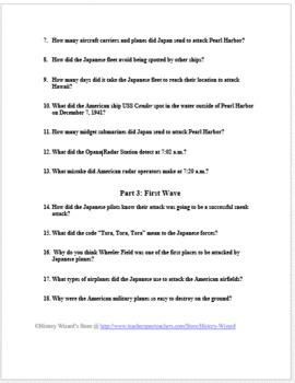 Pearl Harbor Webquest Amazing Website By History Wizard Tpt