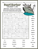 Pearl Harbor Day - Pearl Harbor Word Search
