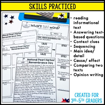 Pearl Harbor: informational texts, timelines, skill pages, and more!