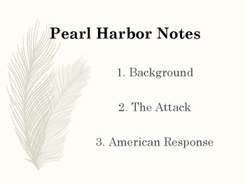 Pearl Harbor ppp & guided notes