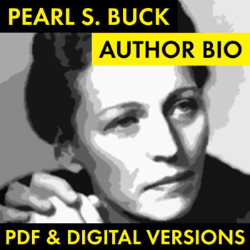 Pearl S. Buck Author Study Worksheet, Easy Biography Activity, CCSS