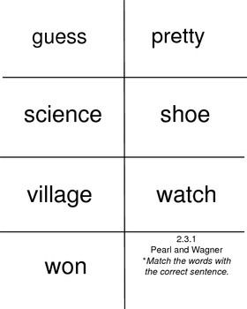 Pearl and Wagner, Reading Street, High Frequency Words