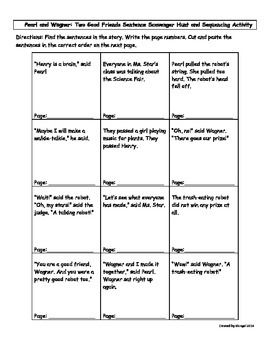 Pearl and Wagner Scavenger Hunt and Sequencing Activity