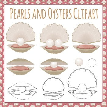 Pearls and Oysters Clip Art Pack for Commercial Use