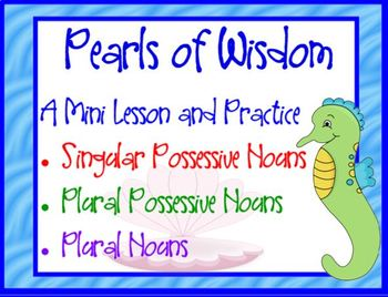 Pearls of Wisdom Mini Lesson and Activity Game with Posses