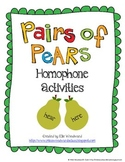Homophone Activities: Pairs of Pears