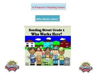 "1st grade Unit 2 story 3 words ""Who Works Here?"""
