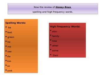 1st grade   Unit 2 story 6 spelling & high frequency words