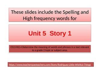 "2nd grade  story 5.1 ""FireFighter"" spelling & HF words"