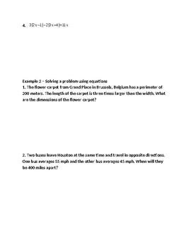Pearson Algebra 2 Common Core Lesson 1.4 Guided Notes