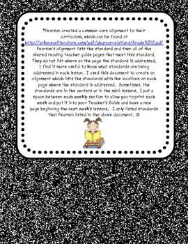 Pearson Common Core Alignment for Daily Lessons Grade 1