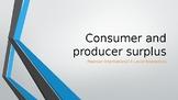 Pearson Edexcel Int'l A Level Economics Consumer and Producer Surplus PPTs