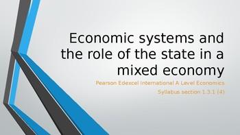 Pearson Edexcel International A Level Economics Economic S