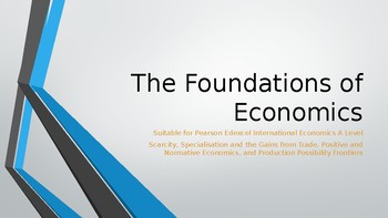 Pearson Edexcel International A Level PPTs 34 great slides Nature of Economics