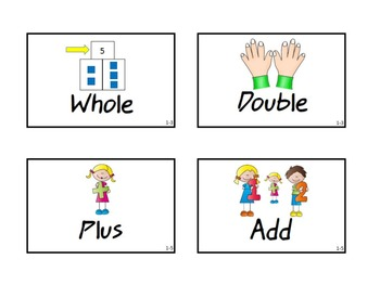 Pearson EnVision Math Common Core Vocabulary Words with Pictures First Grade