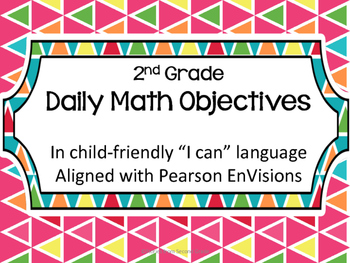 Pearson EnVisions Daily Objectives Second Grade Topic 1