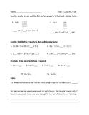 Pearson Envision 2.0 - Grade 3 - Topic 3 - Distributive Property - Editable