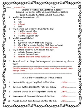 Pearson Interactive Science 2012 4th Grade Lesson Quizzes Chapter 2