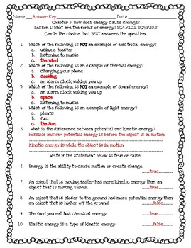 Pearson Interactive Science 2012 4th Grade Lesson Quizzes Chapter 5