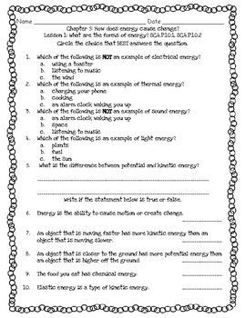 Pearson Interactive Science Chapter 4 Grade 4 Worksheets