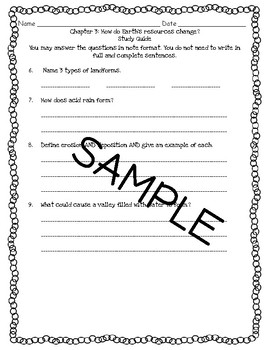 Pearson Interactive Science 2012 4th Grade Study Guide Chapter 3
