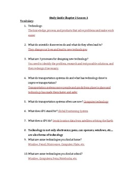 Pearson Interactive Science Chapter 2 Study Guides