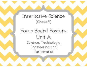 Pearson Interactive Science (Grade 4) Focus Board Posters Unit A, B, C and D