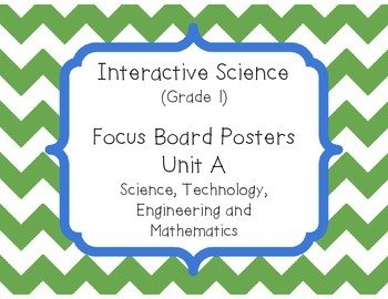 Pearson Interactive Science (Grade 1) Focus Board Posters Unit A, B, C and D