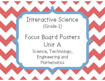 Pearson Interactive Science (Grade 2) Focus Board Posters Unit A, B, C and D