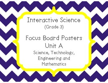 Pearson Interactive Science (Grade 3) Focus Board Posters Unit A, B, C and D