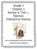 Pearson Interactive Science Series for 4th Grade - Chapter 1 Review and Test
