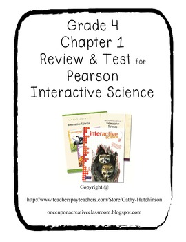 Pearson Interactive Science Series for 4th Grade - Chapter 10 Review