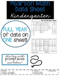 Pearson Math Data Sheet FULL YEAR 1 page