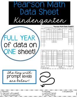 Pearson Math Data Sheet FULL YEAR 1 page