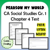 Pearson My World Grade 1 Social Studies: Chapter 4 Test