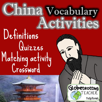 Pearson-My World History-CHINA Vocabulary Definitions, Matching, Quiz, Crossword