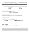 Pearson My World Social Studies Chapter 1 Assessments-Grade 2