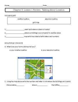 Pearson My World Social Studies Chapter 3 Assessments-Grade 2