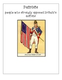 Pearson My World Social Studies Grade 5 Ch. 5 Vocab: The American Revolution