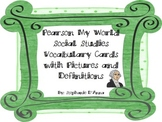 Pearson My World Social Studies Vocabulary Cards with Pictures 1st Grade