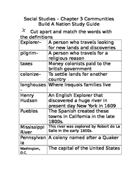 Pearson My world Social Studies - Grade 3 Chapter 3 Study Guide