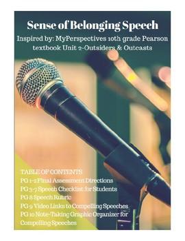 Pearson MyPerspective Outsiders&Outcasts Final Assess: Sense of Belonging Speech