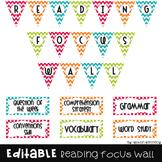 Reading Focus Wall {Editable}