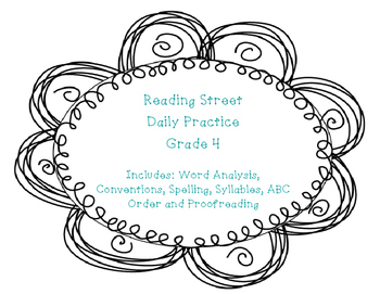 Pearson Reading Street Common Core Daily Practice - Grade 4 - Unit 1