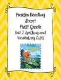 Pearson Reading Street First Grade Unit 2 Spelling & Vocab