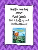 Pearson Reading Street First Grade Unit 4 Spelling & Vocab
